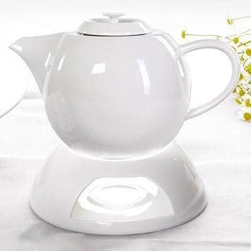 Teekanne Porzellan Mit Stövchen teeservice cocina porzellan weiß teekanne mit stövchen teetassen