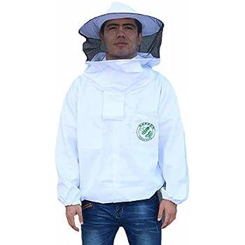 Beekeping Protective Jacket - Beefun Bee New Professional Clothing with Veil Hood for Beekeepers(XXXL)