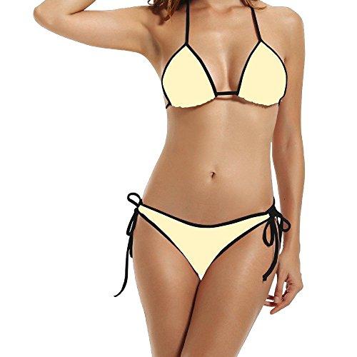Hotgirl4 Women Tint Yellow Bikini Black Size One Size