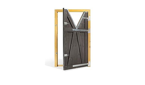 ESTRUCMADER - Puerta Partida en 2 Hojas para Box de Caballo. Mod. Palomino 115x210, Roble/Cerezo/Nogal/Natural: Amazon.es: Jardín