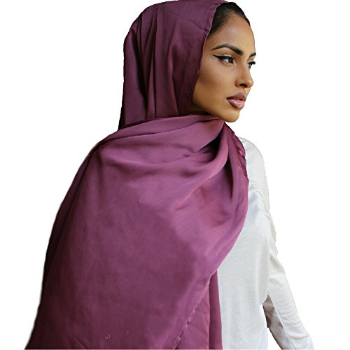 Covered Bliss Amli PREMIUM SILK Full Head & Neck Crinkle Chiffon Scarf – Best Lightweight Ladies Face Wrap Traditional Vintage Indian Shawl, Beautiful Hair Turban Scarves - Australia Shoping Online