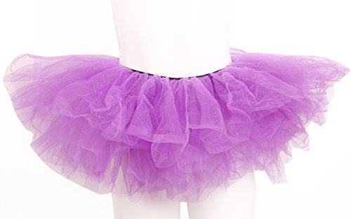 Dancewear Costumes Sale (ELLITE Women's Multilayer Organza Tutu Party Dress Tulle Pettiskirt Purple)