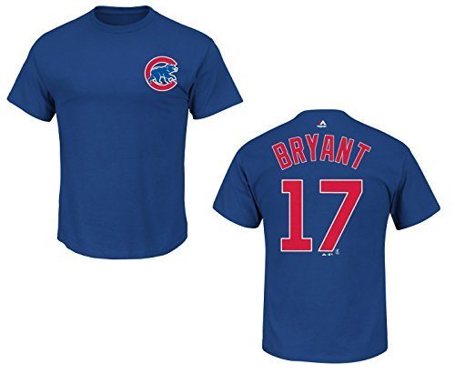Kris Bryant Youth Chicago Cubs Blue Name and Number Jersey T-shirt Medium 10-12