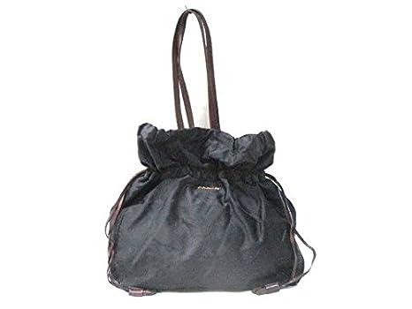 784b2b44b810 Amazon.co.jp: (プラダ)PRADA トートバッグ ロゴジャガード 黒×ダーク ...