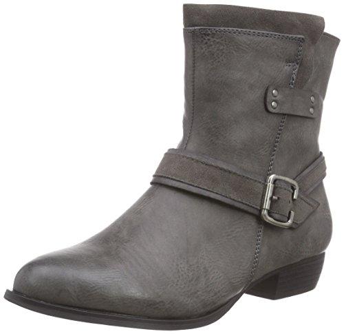 Rieker92674 - botas Mujer Gris - Grau (fumo/graphit / 45)