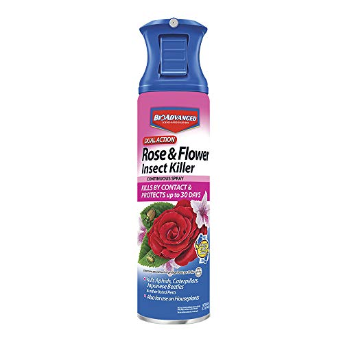 Bayer Advanced 701330 Dual Action Rose and Flower Insect Killer Continuous Spray, 15-Ounce (Not Sold in NY) (Super Duster Non Flammable Spray)