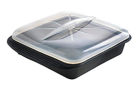 Mastrad F69281 Papillote Minute – Silicone XL – Noir – 30.5 x 25.5 cm