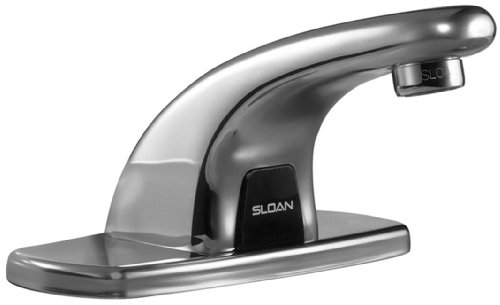 Sloan Bathroom Faucet, Optima Plus Battery Powered, Pedestal