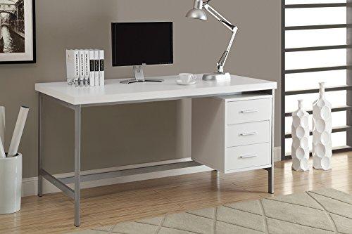 Monarch Specialties I I 7046 Hollow-Core/Silver Metal Office Desk, 60