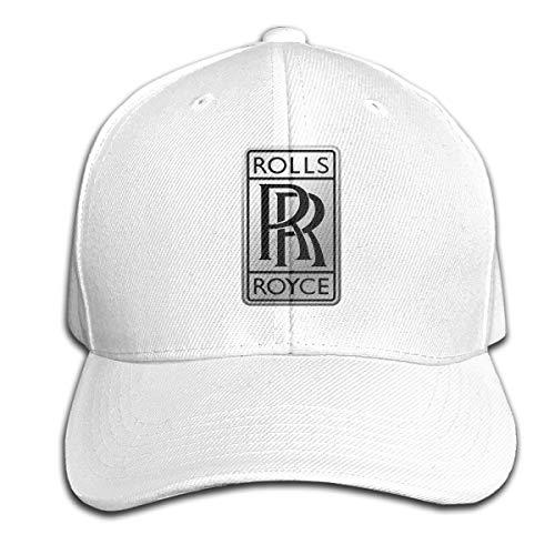TIANXIN New 100% Organic Cotton Design Rolls Royce Logo Cool Cricket Cap for Unisex Hat White (The Best Rolls Royce)