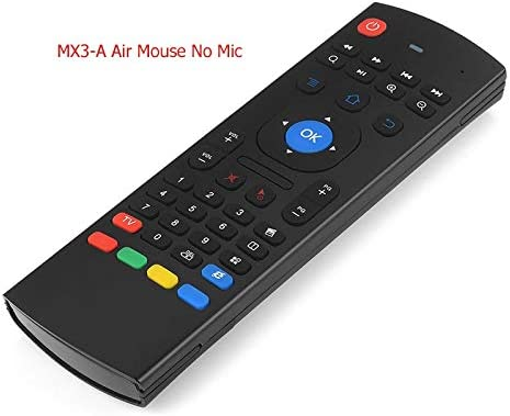 Calvas MX3-A MX3-M Air Mouse MX3 Remote Control with Voice 2.4G RF Wireless Keyboard For Tx3 Mini A95X X96 T95Z Plus Android TV Box Color: RU W Mic No Backlit