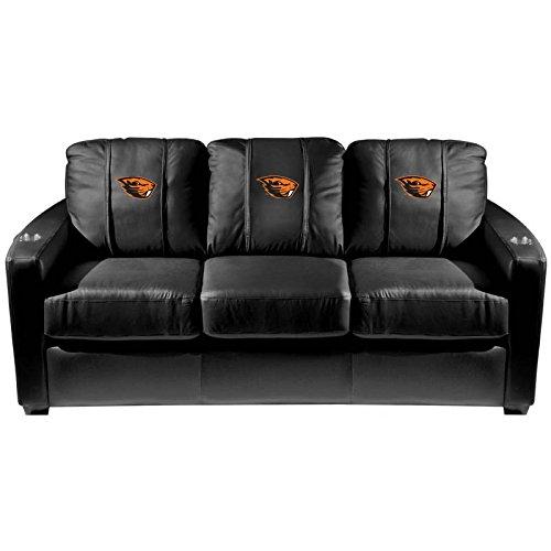 XZipit College Silver Sofa with Oregon State University Beavers Logo Panel, Black