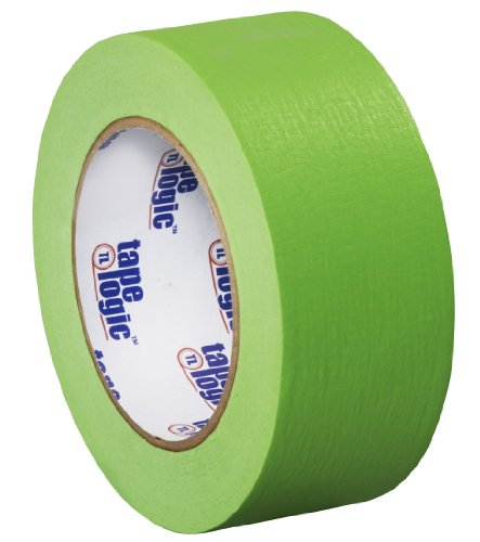 Tape Logic T93700312PKA Masking Tape, 60 yds Length x 2'' Width, Light Green (Case of 12) by Tape Logic