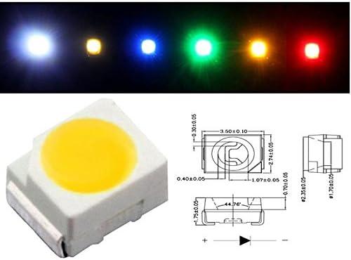 50x Superbright SMD LEDs 0402//1,0x0,5mm ; Pure-White 6000K