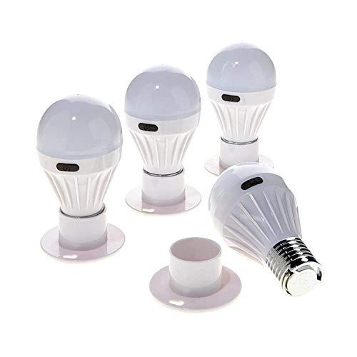 4 Pack - Alltro Bulb Portable Wireless COB LED Light Bulb, Battery Operated LED Night Lights, COB LED Cordless Light Switch, Under Cabinet, Shelf, Closet, Nightlight & Kitchen RV & Boat ()