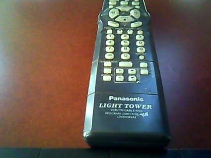 amazon com panasonic light tower vcr tv cable dss program director