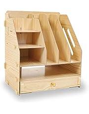 $24 » SUPANT Office Desk Organizer Drawer Set & Accessories, Multi-Functional DIY Pen Holder Box for Kid Men Women, Desktop Stationary, Paper Filer Trays Organization, Home Office Supply Storage Rack