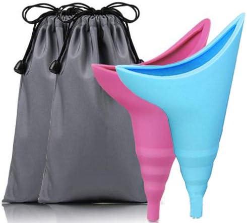 Fiyuer urinoir pour Femme 2 Pcs pisse Debout r/éutilisable Entonnoir pour Femme Enceinte Accroupie /éviter Durine Entonnoir