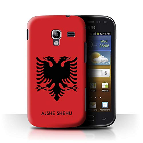 Personalized Custom National Nation Flag 2 Case for Samsung Galaxy Ace 2/I8160 / Albania/Albanian Design/Initial/Name/Text DIY Cover (Galaxy I8160 Case Ace Samsung 2)