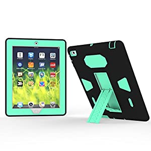 Solobay CASE ipad MINI 1/2/3 Case Shockproof with Kickstand 2 in 1 ipad Rubber Child Proof Tablet Case Cover For mini1/2/3 Heavy Duty Tough Rugged Hybrid Stand Shockproof Case