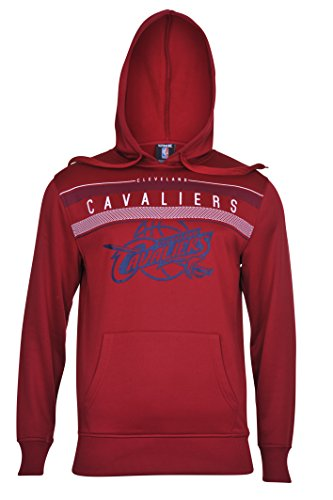 fan products of NBA Men's Cleveland Cavaliers Fleece Hoodie Pullover Sweatshirt Poly Midtown, X-Large, Maroon