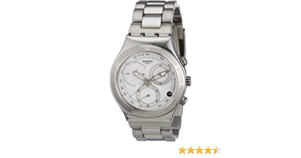 Amazon.com: Swatch Oblique Chrono Quartz Stainless Steel YCS550G: Swatch: Watches