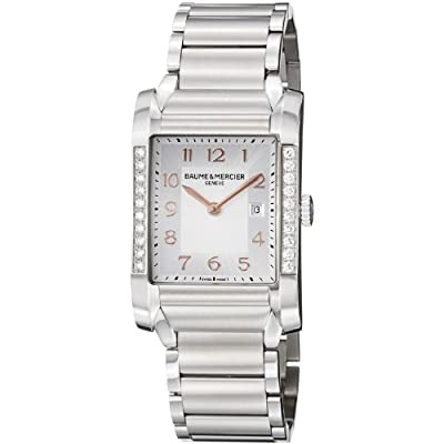 Baume Mercier Women's 10023 Hampton Ladies Stainless Steel Diamond Watch