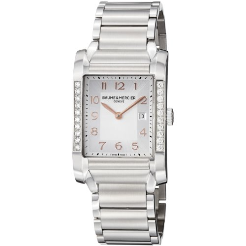 Baume-Mercier-Womens-10023-Hampton-Ladies-Stainless-Steel-Diamond-Watch