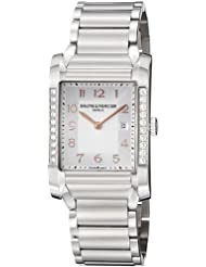 Baume Mercier Womens 10023 Hampton Ladies Stainless Steel Diamond Watch
