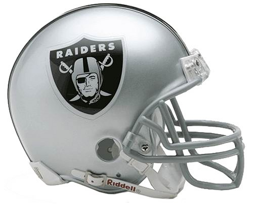 Nfl Raiders Helmet (NFL Oakland Raiders Replica Mini Football Helmet)