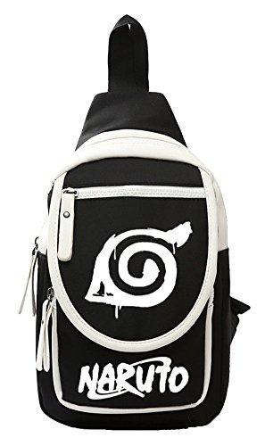 Sling Knapsack - Gumstyle Anime Naruto Crossbody Backpack Rucksack Knapsack Sling Bags Shoulder Bag Daypack for Boys 1