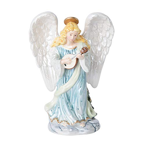 Fitz and Floyd Coleen Christian Burke Reagan Candleholder, Angel with Lute