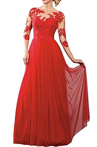 Brautmutterkleider Lang A Chiffon mia Rock Spitze La Abendkleider Braut Suessig Blau Promkleider Rot Jugendweihe Kleider Linie qgYawRavx