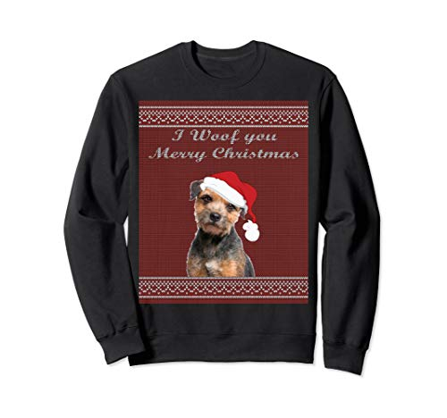 Border Terrier ugly sweater Christmas party Sweatshirt -