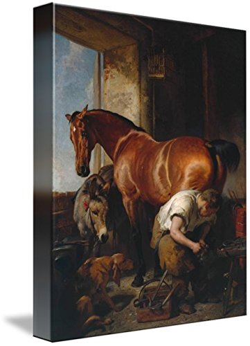 Wall Art Print Entitled Sir Edwin Henry Landseer Shoeing Exhibited 1844 by Celestial Images | 8 x 10