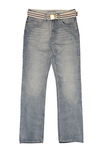 """CARABOU SMART PASSFORM MITTLERES GEWICHT JEANS (RV-GRVM) IN TAILLE 81.3cm TO 142.2cm & L29"""" To 83.8cm"""