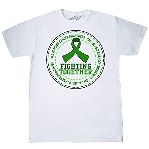 inktastic - Fighting Together- Gall Bladder Cancer T-Shirt Small White 3220b