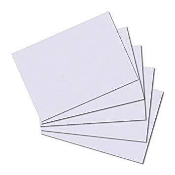 Farbe blanko 100 Karteikarten DIN A7 weiß