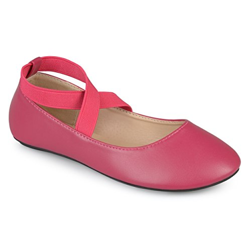 Journee Collection Kids Ballet Wrap Close Toe Flats Rose  4 Regular Us