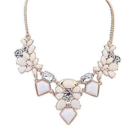 Blush Necklace - Paper & Quartz Perfect Gold, Cream, and Blush Women Girls Statement Necklace