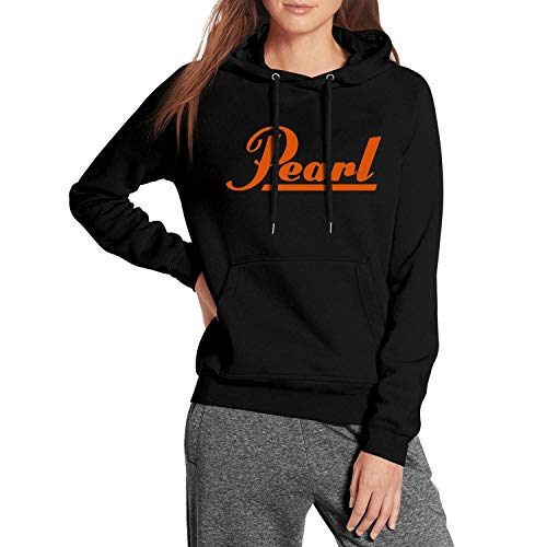YJRTISF Popular Music Big Pockets Ultra Soft Plush Lining Design Pearl-Drums-Logo- Trending Fleece Hoodie for Womens ()