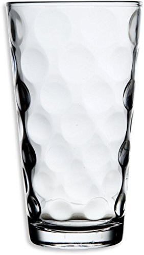 Palais Glassware Cercle Collection; Clear Glass Set with Circle Design (Set of 10 17 Oz Highballs, ()
