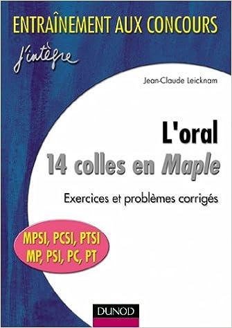 Anglais ebooks téléchargement gratuit pdf L'oral : 14 colles