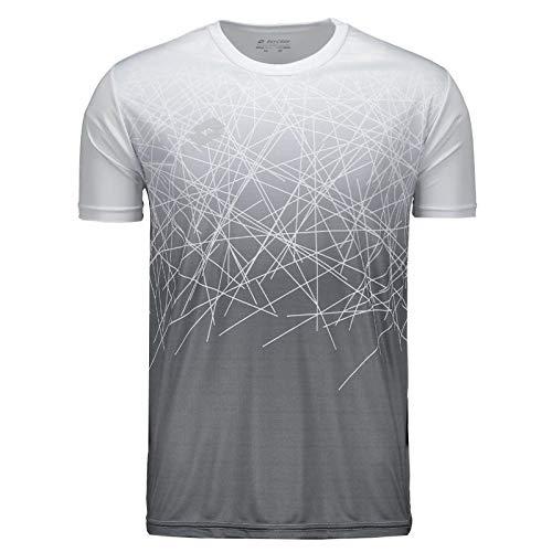 Camiseta Lotto New Gravity Branca E Cinza