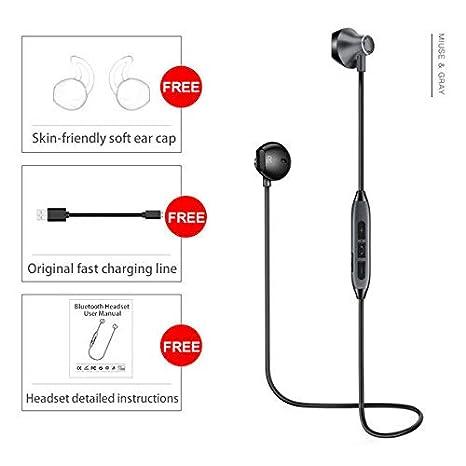 Amazon.com: FidgetKute Audifonos Inalambricos Bluetooth Wireless Headphones for iPhone, Samsung Android White/Silver: Electronics