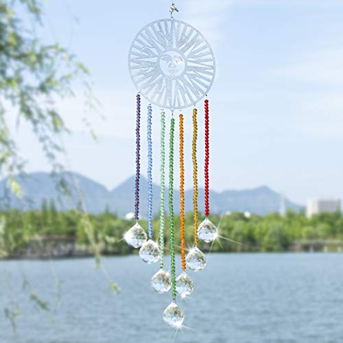 HampD HYALINE amp DORA Crystal Prisms Hanging Crystals Ornament for Home DecorationLooks Like a Dream Catcher