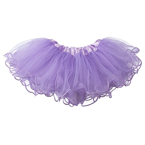 - My Lello Baby Tutu Ruffled Scallope Edge Skirt 5-Layer (Newborn - 3mo.) Light Lavender