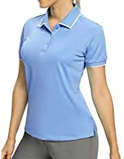 Hiverlay Polo Shirts for Womens Golf Shirts Ladies Dry Fit UPF 50+ Lightweight Moisture Wicking Collared Tennis Shirts Tops