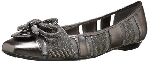 N US Edie 8 Ballet Women's Pewter Multi Flat Renee J Gold zEfRqw8x