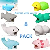 YMH Cable Protector for iPhone iPad Cable Android Samsung Galaxy Cord Plastic Cute Sea Animals Phone Accessory Protects USB Charger Data Protection Cover Chewers Earphone Cable Bite 8Pack (GSDBACTP)